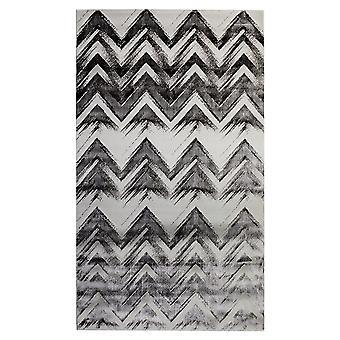 Pierre Cardin design matta i akryl Vit/Svart
