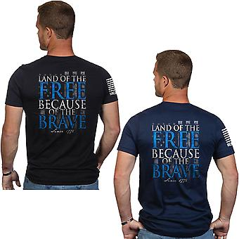 Nine Line Apparel Because Of The Brave Short Sleeve T-Shirt