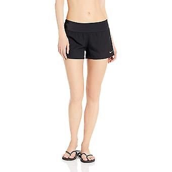 Nike Swim Women's Solid Element Swim Boardshort, Black, Small