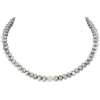 Ewige Sammlung Majestic Platin Kristall Statement Perlen Halskette
