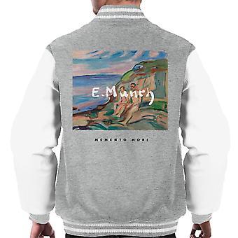 A.P.O.H Edvard Munch Beach Painting Memento Mori Men's Varsity Jacket