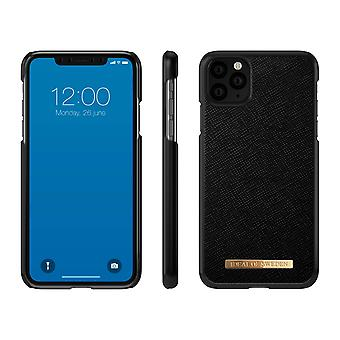 iDeal Ruotsin iPhone 11 Pro Max Saffiano Shell - Musta