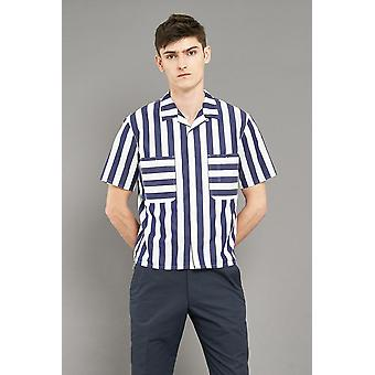 Jj emlyn pickard shirt - navy/white