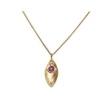 GEMSHINE pingente colar sólido 925 prata, banhado a ouro ou rosa-vermelho rubi