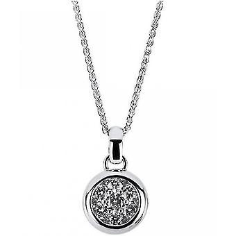 Diamantvedhæng-14K 585 hvidguld-0,49 CT.