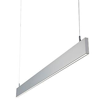 Saxby belysning Kingsley integrerad LED pendel bar silver anodiserad, frostad IP40 78978