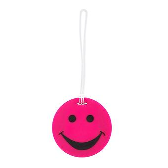 Lewis N. Clark Smiley Face Luggage Tags, Pink #ID99PNK