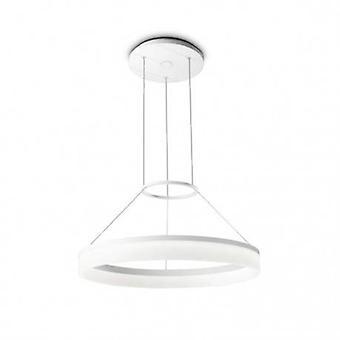 Integrated Led 1 Light Small Ceiling Pendant Light White