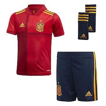 adidas Spain 2020/21 Junior Kids Football Home Mini Kit Red
