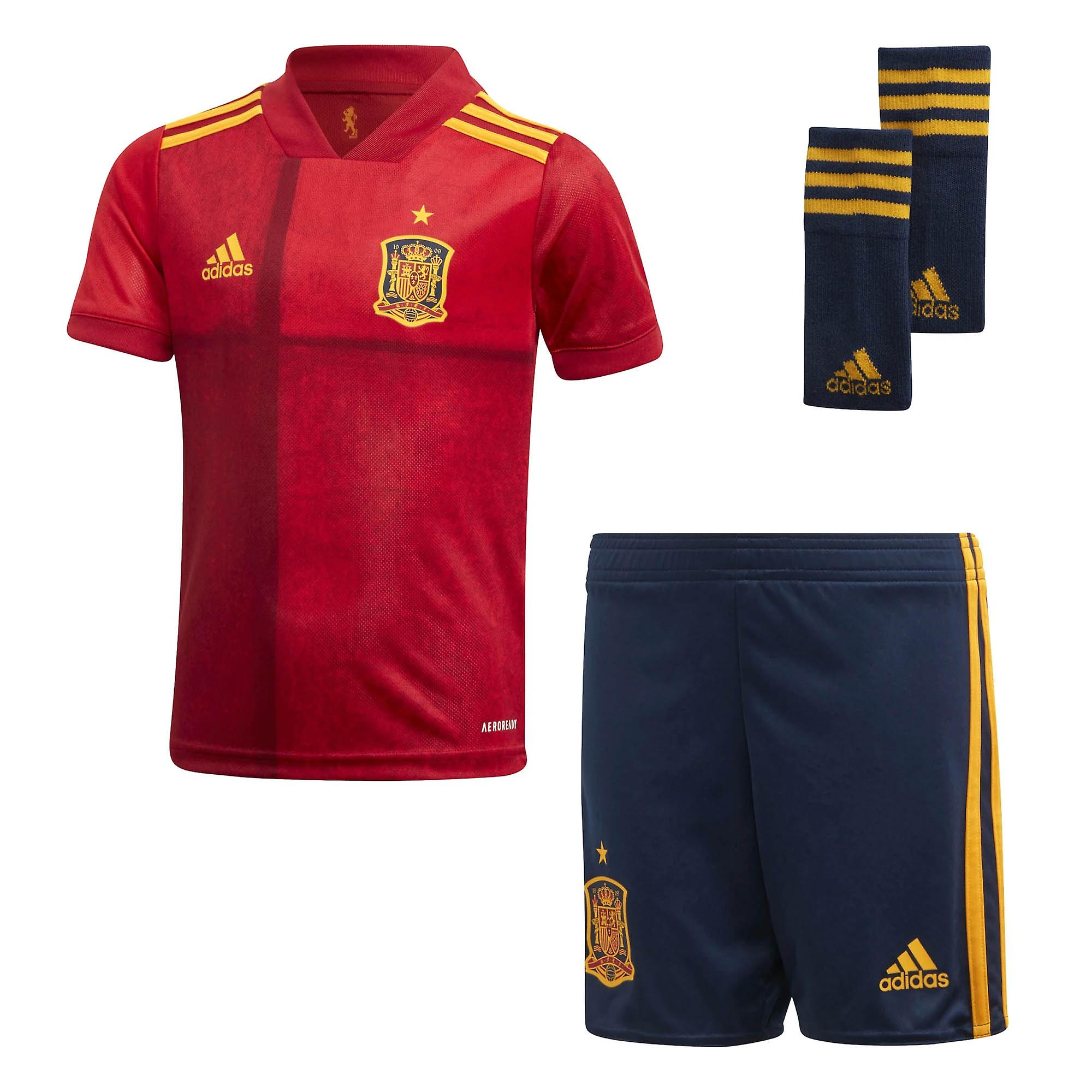 adidas Spain 2020/21 Junior Kids Football Home Mini Kit Red