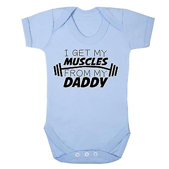 I get my muscles from daddy babygrow