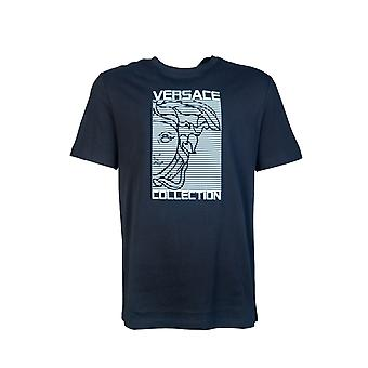 Versace T skjorte Medusa Logo Print V800683r Vj00611
