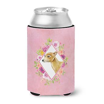 Italian Greyhound Pink Flowers Can or Bottle Hugger