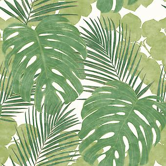 Portfolio XII Jungle Leaves Wallpaper Green Rasch 214628