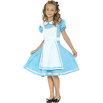 Wonderland Princess Costume, Blue, with Dress, Attached Apron & Headband