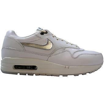 Nike Air Max 1 Premium vit/Metallic Silver-Pure Platinum 454746-100 kvinnor ' s