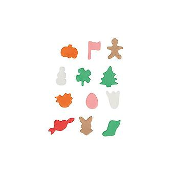 Cake Star Mini Metal Cutters - Seasonal - 12 Piece