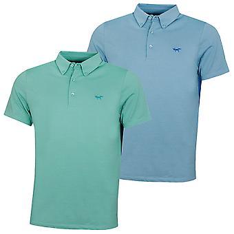 Wolsey Mens Mix Fabric Half And Half Lightweight Golf Polo Shirt