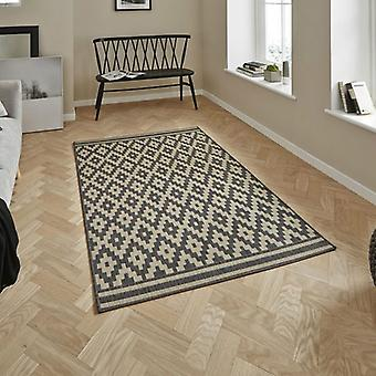 Cottage CT5581 Anthracite Sand  Rectangle Rugs Modern Rugs