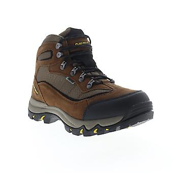 Hi-Tec Skamania  Mens Brown Wide Suede Lace Up Hiking Boots Shoes