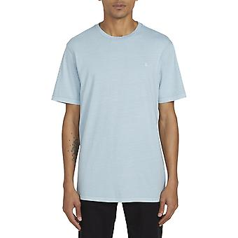 Volcom Solid Stone Embroidered Short Sleeve T-Shirt in Cool Blue