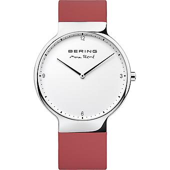 Bering reloj de reloj de reloj de reloj de pulsera Max René Ultra Delgado - 15540-500 silicona
