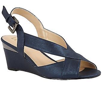 لوتس دومينيكا النساء Slingback زقزقة إصبع القدم إسفين الأحذية