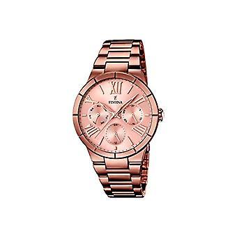 Festina F16798/1-montre-bracelet, femelle, acier inoxydable, plaqué couleur: brun