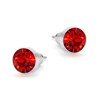 Light Siam Swarovski earrings EMB8.09