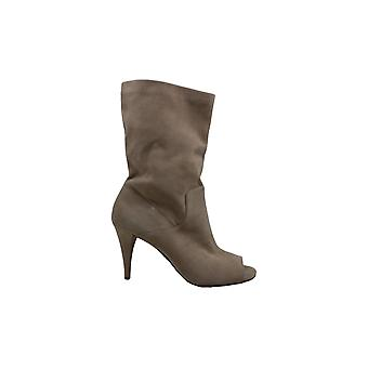 MICHAEL by Michael Kors Womens Elaine Fabric Open Toe Ankle Fashion Boots
