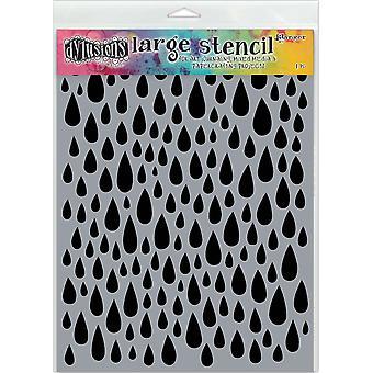 "ديان Reaveley & apos;s Dylusions Stencils 9""X12"" - قطرات المسيل للدموع"