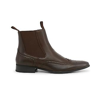 Duca di Morrone Original Men Fall/Winter Ankle Boot - Brown Color 30108