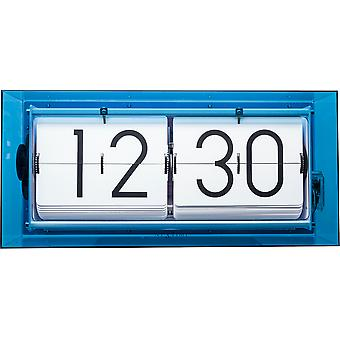 Nextime-Table Clock-Ø 36 cm-Akryl-flip Clock-blå-' Big flip Clear '
