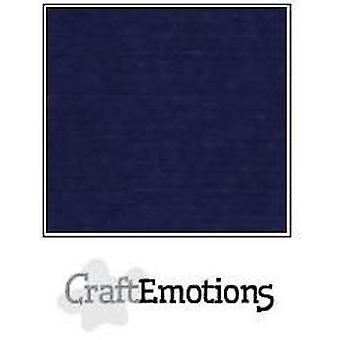 CraftEmotions linnekartong 10 Sh mörkblå LHC-05 A4 250gr