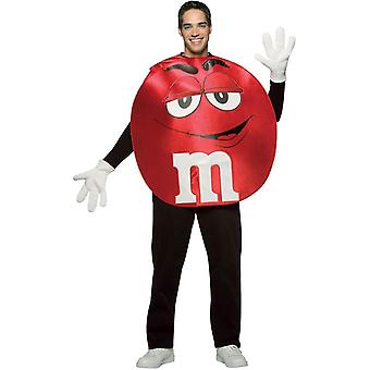 Röd M & M's Adult Poncho