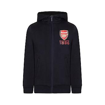 Arsenal FC Official Football Gift Boys Fleece Zip Hoody