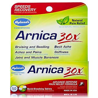 Hyland's arnica 30x, advance defense pain relief, tablets, 50 ea