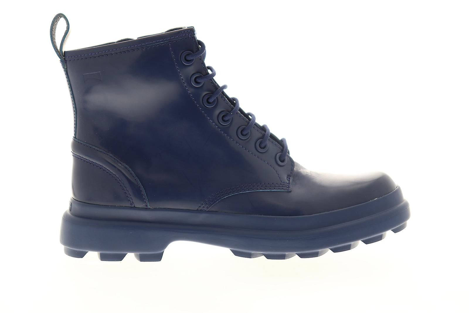Camper Turtle Womens Blauw Leer Lace Up Casual Dress Boots wxJb5s