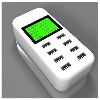 8Port USB شاحن سطح المكتب 5V 8A مع شاشة LCD