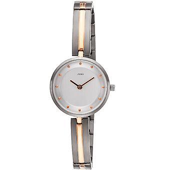 JOBO señoras muñeca reloj de cuarzo analógico titanio bicolor reloj para hombre