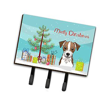 Christmas Tree and Jack Russell Terrier Leash or Key Holder