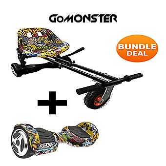 "6.5"" G PRO Hip Hop Bluetooth Hoverboard with Go Monster Hoverkart in Hip Hop"