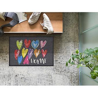 Salonloewe Doormat Funky Hearts Accueil 50 x 75 cm Porte lavable