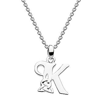 Heritage necklace in silver Sterling - pattern: initial K Celtic - length: 45 -7 cm