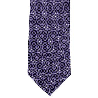 Michelsons of London Geometric Circle Polyester Tie - Purple