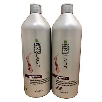 Matrix Biolage Advanced Repairinside Shampooing et Revitalisant Ensemble 33,8 Oz Chacun