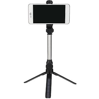 4 in 1 wireless bluetooth remote control selfie stick universal extendable tripod for mobile phones (black)