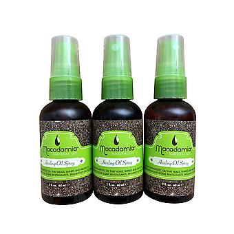 Macadamia Hair Care Healing Oil Spray 2 OZ set of 3