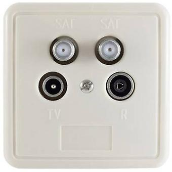 Smart SEA4 Antenna socket set SAT, TV, BK, FM Flush mount Terminated