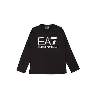 EA7 Girls Black Long Sleeve T-Shirt